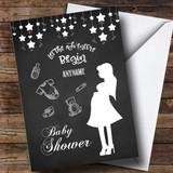 Customised Chalk Stars Baby Shower Card