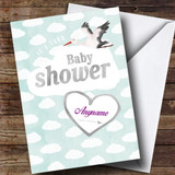 Customised Cloud Stork Baby Shower Card