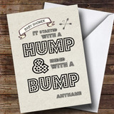 Customised Hump & Bump Baby Shower Card