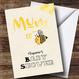Customised Mum To Bee Baby Shower Card