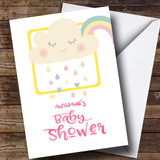 Customised Rain Cloud Baby Shower Card
