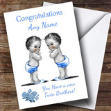 Cute You Have New Twin Brothers Customised New Baby Card