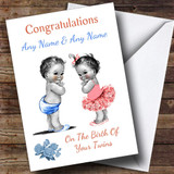 Cute New Baby Twins Boy & Girl Customised New Baby Card