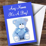 It's A Boy Teddy Customised New Baby Card