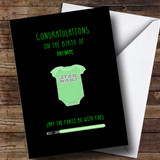 Customised Star wars May The Force Be With You New Baby Card