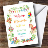 Customised Welcome To The World Classic New Baby Card