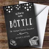 Customised Funny Hit The Bottle Chalk New Baby Card