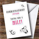 Customised Funny Milf Single Mum New Baby Card