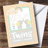 Customised Twins New Baby Card