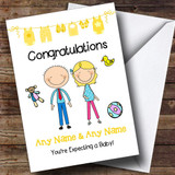 Blonde Mum To Be Congratulations Expecting A Baby Customised Pregnancy Card