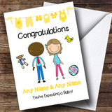 Black Dad To Be Congratulations Expecting A Baby Customised Pregnancy Card