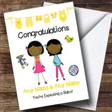 Gay Lesbian Black Congratulations Expecting A Baby Customised Pregnancy Card