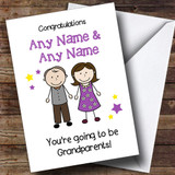 Expecting A Grandchild New Grandparents Customised Pregnancy Card