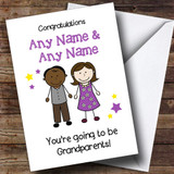 Expecting A Grandchild New Grandparents Black Male Customised Pregnancy Card