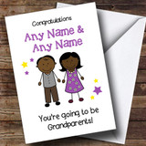 Expecting A Grandchild New Grandparents Black Couple Customised Pregnancy Card