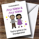 Expecting A Grandchild New Grandparents Asian Couple Customised Pregnancy Card