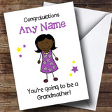 Expecting A Grandchild New Grandmother Black Lady Customised Pregnancy Card