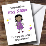 Expecting A Grandchild New Grandmother Asian Lady Customised Pregnancy Card