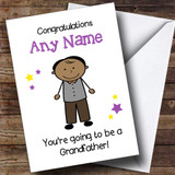 Expecting A Grandchild New Grandfather Asian Man Customised Pregnancy Card