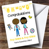 Black Mum To Be Congratulations Expecting A Baby Customised Pregnancy Card