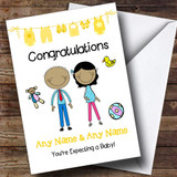 Asian Mum To Be Congratulations Expecting A Baby Customised Pregnancy Card