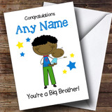 Black Big Brother Congratulations New Baby Boy Customised Sibling Card