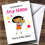 Asian Big Sister Congratulations New Baby Boy Brother Customised Sibling Card