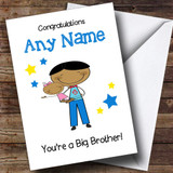 Asian Big Brother Congratulations New Baby Sister Girl Customised Sibling Card