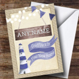 Burlap & Lighthouse New Home Customised Card