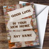 Brick & Signpost New Home Customised Card