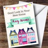 Bunting & Houses New Home Customised Card