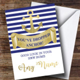 Dropped Anchor New Home Customised Card