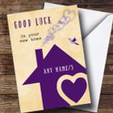 Purple House New Home Customised Card