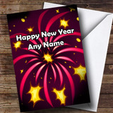 Pink Fireworks Customised New Years Card