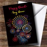 Black Fireworks Customised Diwali Card