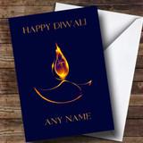 Blue Flame Customised Diwali Card