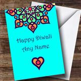 Blue Customised Diwali Card
