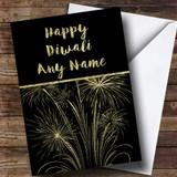 Gold Fireworks Customised Diwali Card