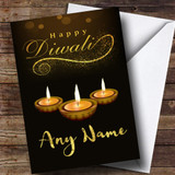 Golden Candles Customised Diwali Card