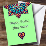 Green Customised Diwali Card