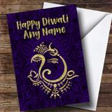 Hindu Pattern Ganesh Customised Diwali Card