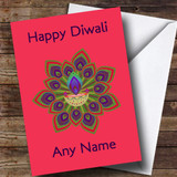 Hot Pink Customised Diwali Card
