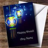 Lanterns Customised Diwali Card