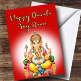 Lord Ganesh Red Customised Diwali Card