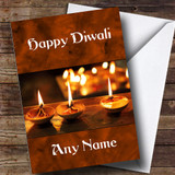 Orange Candles Customised Diwali Card