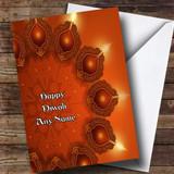 Orange Lights Customised Diwali Card