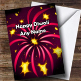 Pink Fireworks Customised Diwali Card