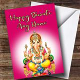 Pink Lord Ganesh Customised Diwali Card