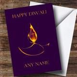 Purple Flame Customised Diwali Card
