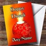Red Candle Customised Diwali Card